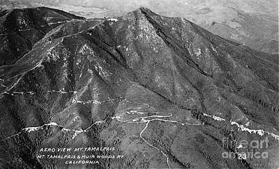 Photograph - Aero View Mt Tamalpais Marin Co. California  Circa 1920 by California Views Archives Mr Pat Hathaway Archives