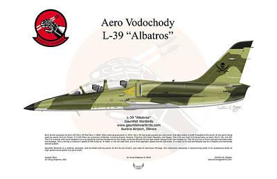Czech Republic Digital Art - Aero Vodochody Albatros by Arthur Eggers