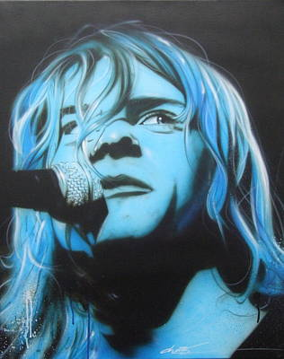 Microphone Painting - Kurt Cobain - ' Aero Zeppelin ' by Christian Chapman Art