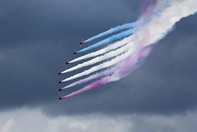 Stunt Flyer Photograph - Aerobatic Team by Graham Moore