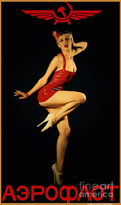 Vintage Pinup Photograph - Aeroflot by Cinema Photography