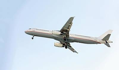 Passenger Plane Photograph - Aeroplane In Sky by Wladimir Bulgar