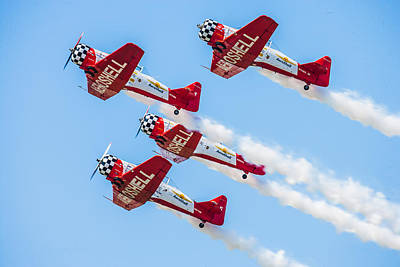 Abstract Stripe Patterns Rights Managed Images - AeroShell Aerobatic Team Royalty-Free Image by Jeff Donald