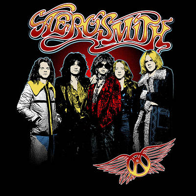 Aerosmith - 1970s Bad Boys Art Print by Epic Rights