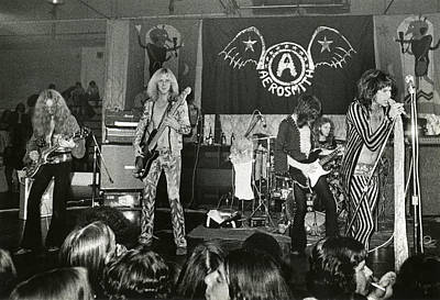Heavy Metal Photograph - Aerosmith - Aerosmith Tour 1973 by Epic Rights