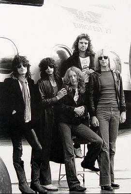 Album Photograph - Aerosmith - Eurofest Jet 1977 by Epic Rights