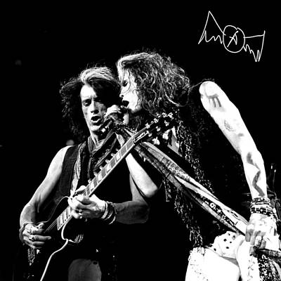 Album Photograph - Aerosmith - Joe Perry & Steve Tyler by Epic Rights