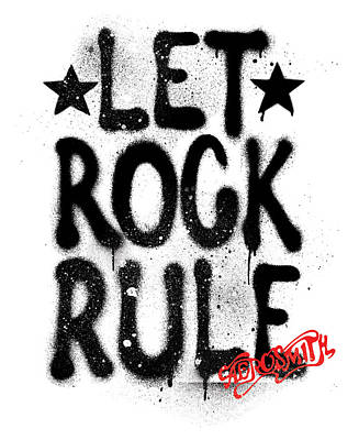 Music Photograph - Aerosmith - Let Rock Rule Graffiti by Epic Rights