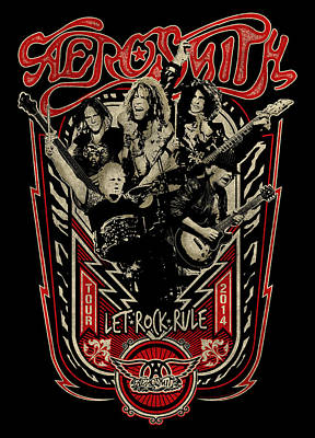 Heavy Metal Photograph - Aerosmith - Let Rock Rule World Tour by Epic Rights