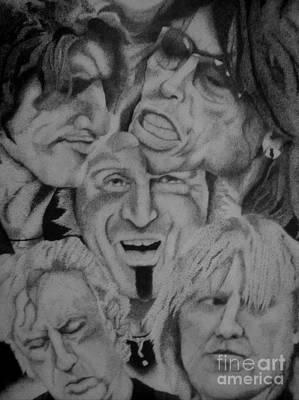 Steven Tyler Drawing - Aerosmith Portrait by Kathleen Allen