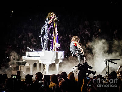 Steven Tyler Photograph - Aerosmith Steven Tyler Joe Perry In Concert by Jani Bryson