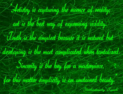 Digital Art - Aesthetic Quote 1 by Withintensity  Touch