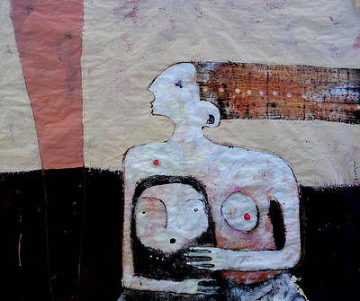 Woman And Baby Painting - Aetas No 3 by Mark M  Mellon