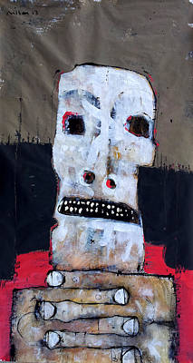 Outsider Art Painting - Aetas No 6 by Mark M  Mellon