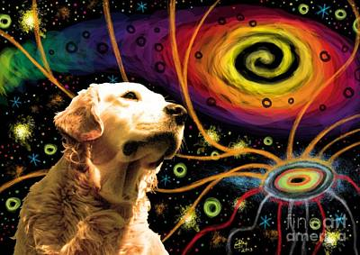 Digital Art - Aetherial Retriever by M o R x N
