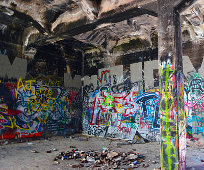 Photograph - Af Graffiti 6 by Brent Dolliver