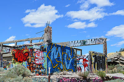 Photograph - Af Graffiti 7 by Brent Dolliver