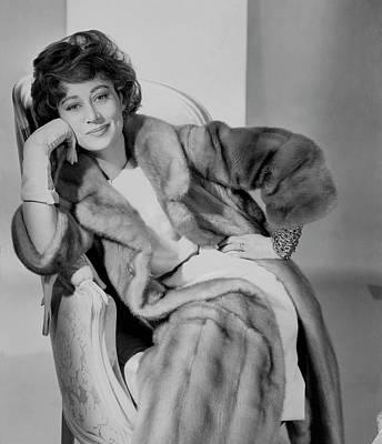 Photograph - Afdera Franchetti Wearing A Maximilian Coat by Horst P. Horst