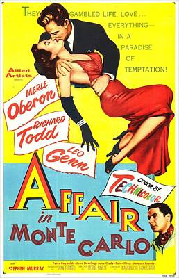 Affair In Monte Carlo, Aka 24 Hours Of Art Print by Everett
