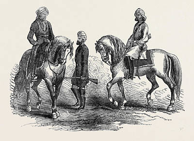 Affghan Native Officer 5th P.c. Left Sikh Trooper 5th P Art Print