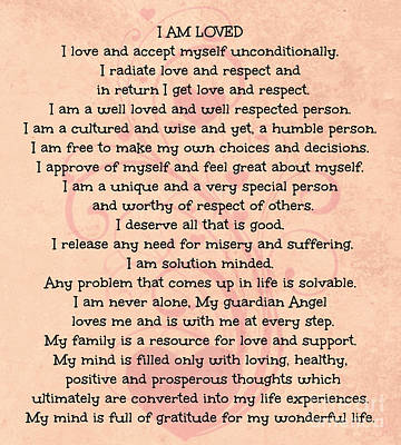 Digital Art - Affirmations Of Love by Mindy Bench