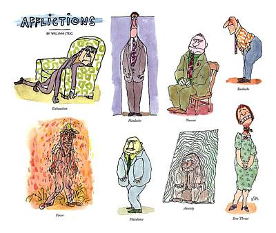 Anxiety Drawing - Afflictions by William Steig