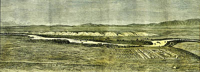 Boundary Drawing - Afganistan Near Tirpul 1885 The Camp Of The Afghan Boundary by English School