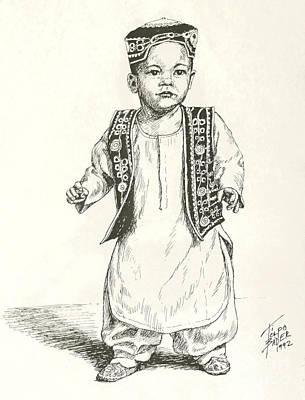 Painting - Afghan Boy by Art By - Ti   Tolpo Bader