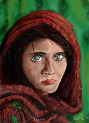 Afghan Girl Art Print by Sasank Gopinathan