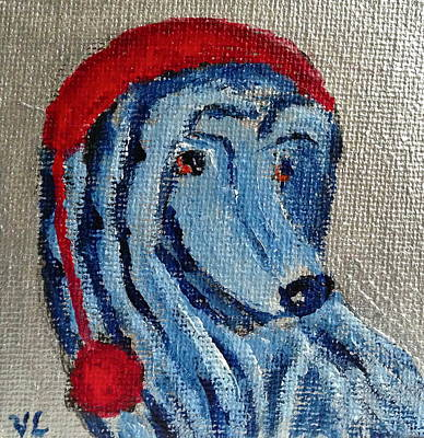 Painting - Afghan Hound Christmas by Victoria Lakes
