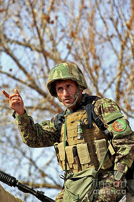 Afghan National Army Photograph - Afghan National Army Soldier by Stocktrek Images