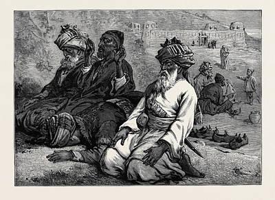 Namaz Drawing - Afghans At Their Namaz 1880 by English School