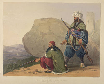 Afghanistan Photograph - Afghaun Foot Soldiers by British Library