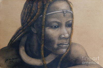 Art Print featuring the pastel Afican Woman by James McAdams