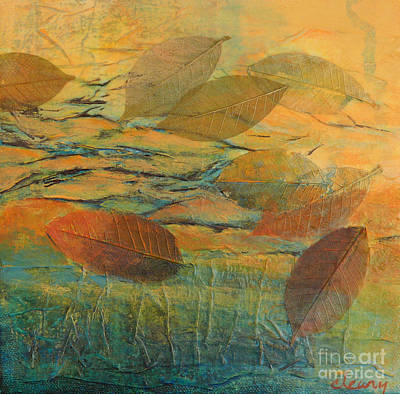 Waterscape Painting - Afloat 1 by Melody Cleary