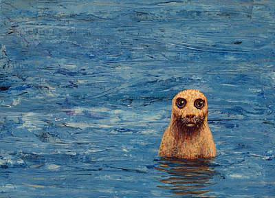 Seals Painting - Afloat by James W Johnson