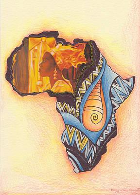 Drawing - Africa by Bernadett Bagyinka