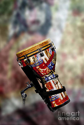 Photograph - Africa Culture Drum Djembe In Color 3236.02 by M K Miller