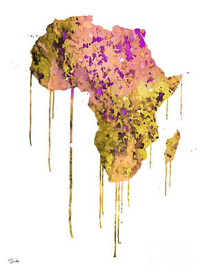 Painting - Africa by Watercolor Girl
