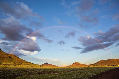 Full Rainbow Photograph - Africa, Namibia Landscape With Full by Jaynes Gallery