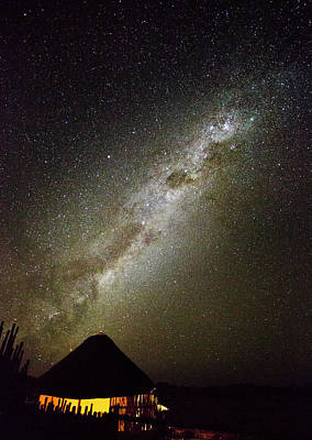 Africa, Namibia Milky Way And Night Sky Art Print