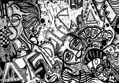 Robert Daniels Drawing - Africa by Robert Daniels