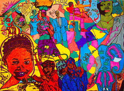 Twitter Mixed Media - Africa by The Artist JPalmer