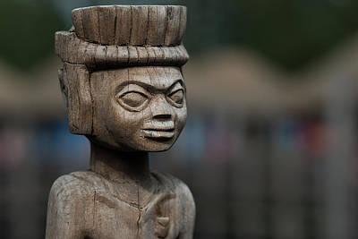 Human Sacrifice Art Photograph - African Aging Wooden Sculpture by TouTouke A Y