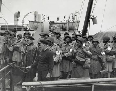 Bsloc Photograph - African America U.s. Army Nurses Arrive by Everett