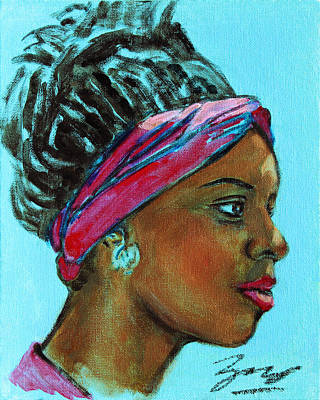 Painting - African American 5 by Xueling Zou