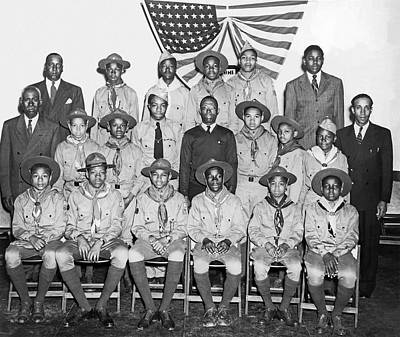 Boy Scouts Photograph - African American Boy Scouts by Underwood Archives