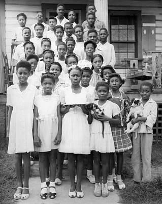African-american Photograph - African American Children by Underwood Archives