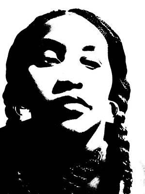 African American Girl P7292045 Art Print