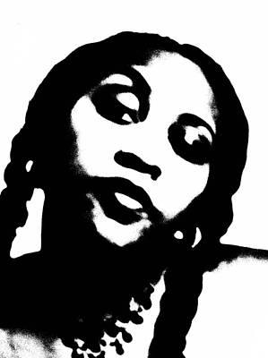 African American Girl P7292074 Art Print